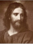 Christ Card Sepia Tone - Large